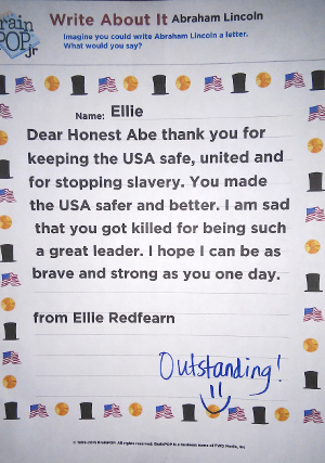 Letter to Abe Lincoln